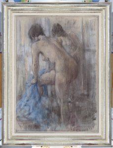 Sierk Schröder | Standing nude in front of the mirror