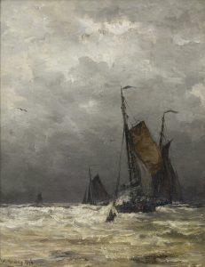 Hendrik Willem Mesdag | De terugkomst van de bomschuiten