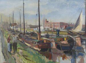 Ben Walrecht | Gezicht op het Eemskanaal in Groningen