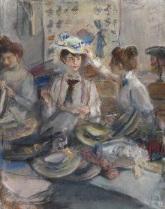 Isaac Israels | Het atelier van de hoedenmakers