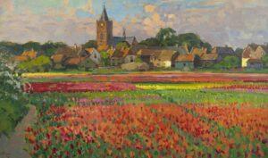Ben Viegers | Bollenveld in volle bloei bij Noordwijk