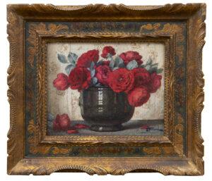 Ernest Filliard | Rode rozen in een kom