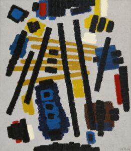 Willem Hussem | Composition against gray background