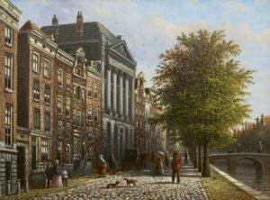 Johannes Fanciscus Spohler | Het Felix Meritis gebouw aan de Keizersgracht, Amsterdam