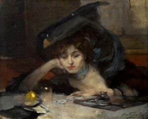 Jean Gouweloos | Playing cards in the café