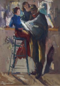 Jan Rijlaarsdam | At the bar in a café