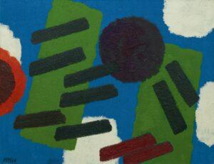 Willem Hussem | Compositie with blue